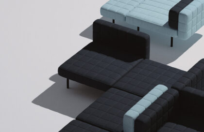 Voxel Sofa by Bjarke Ingels Group